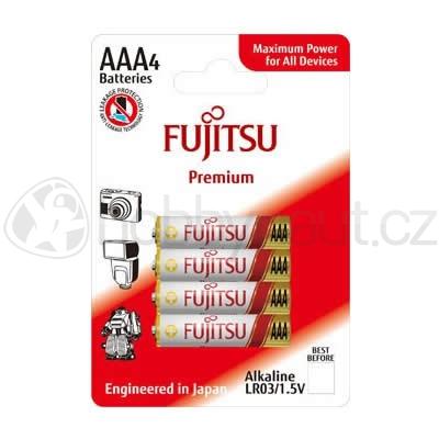 Elektro - Baterie Fujitsu Premium Power alkalické AAA 4ks