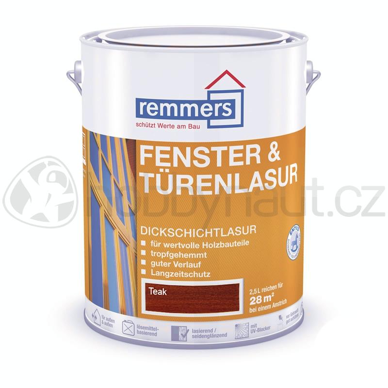 Barvy a nátěry - Remmers Fenster & Türenlasur - Teak