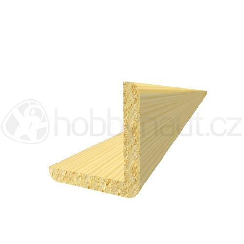 Dřevo - Dřevěná lišta smrk ROHOVÁ R4 d.200cm