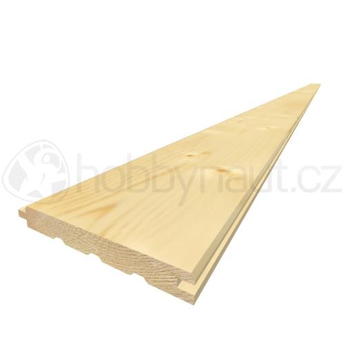 Dřevo - Palubky obkladové smrk A/B 15x121mm x 4m (8ks/bal)