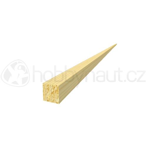 Dřevo - Dřevěná lišta smrk PROFILOVÁ PR8 d.200cm