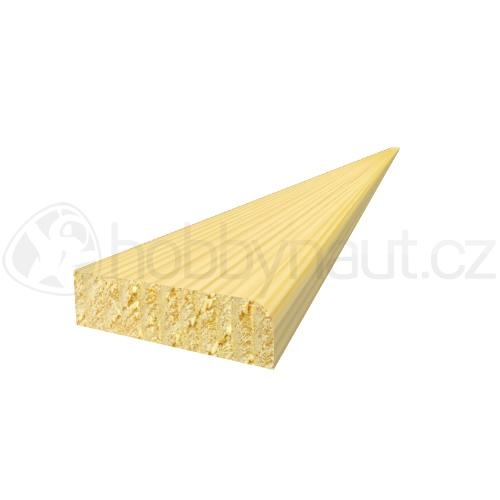 Dřevo - Dřevěná lišta smrk PROFILOVÁ PR9 d.200cm