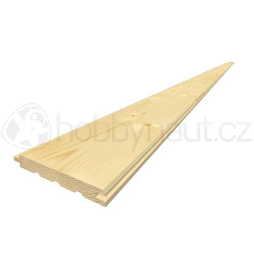 Dřevo - Palubky obkladové smrk A/B 12,5x96mm x 4m (10ks/bal)