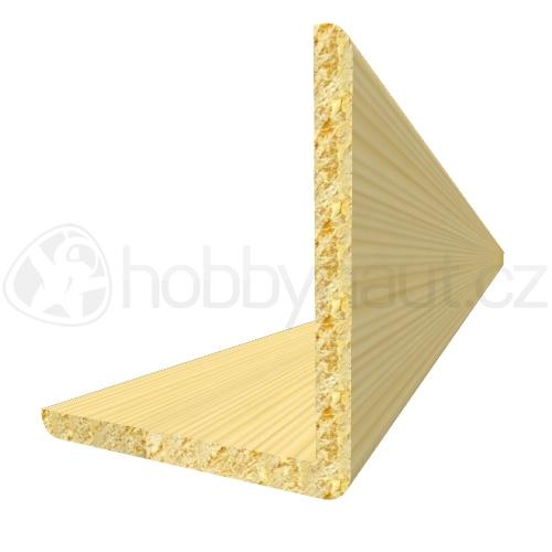Dřevo - Dřevěná lišta smrk ROHOVÁ R9 d.200cm