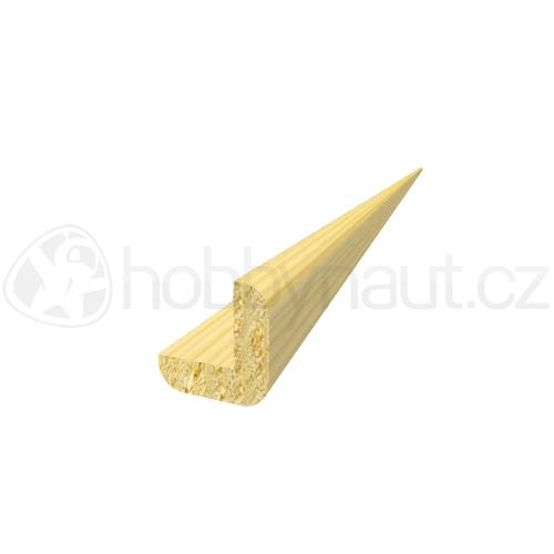 Dřevo - Dřevěná lišta smrk ROHOVÁ R6 d.200cm