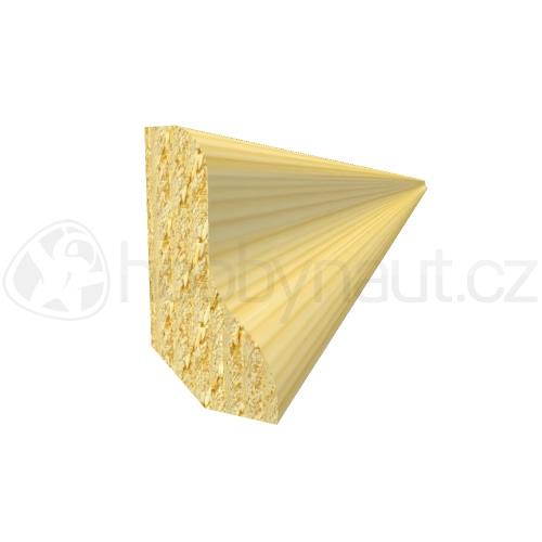 Dřevo - Dřevěná lišta smrk PODLAHOVÁ P2 d.200cm