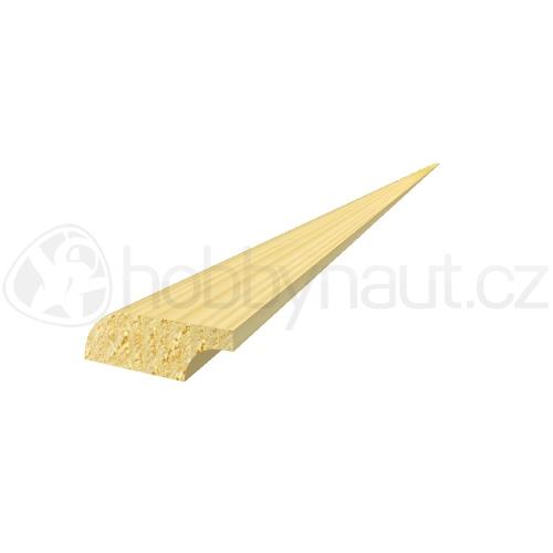 Dřevo - Dřevěná lišta smrk PODLAHOVÁ P5 d.200cm