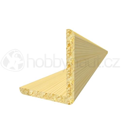 Dřevo - Dřevěná lišta smrk ROHOVÁ R7 d.200cm
