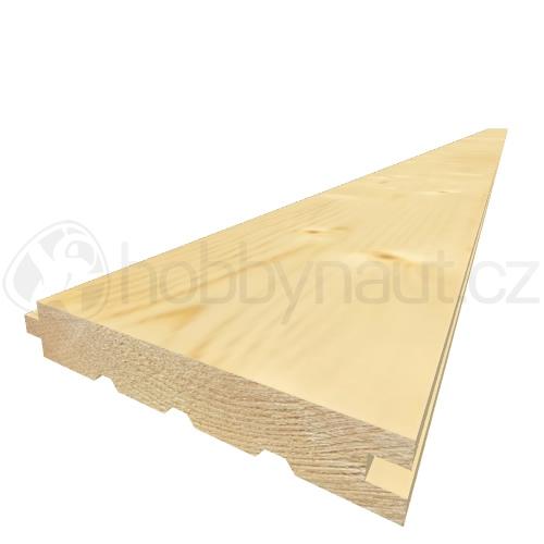 Dřevo - Palubky podlahové smrk A/B 24x146mm x 4m (4ks/bal)