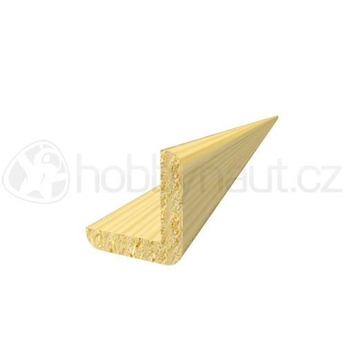 Dřevo - Dřevěná lišta smrk ROHOVÁ R5 d.200cm