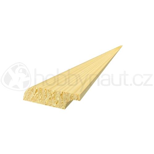 Dřevo - Dřevěná lišta smrk PODLAHOVÁ P4 d.200cm