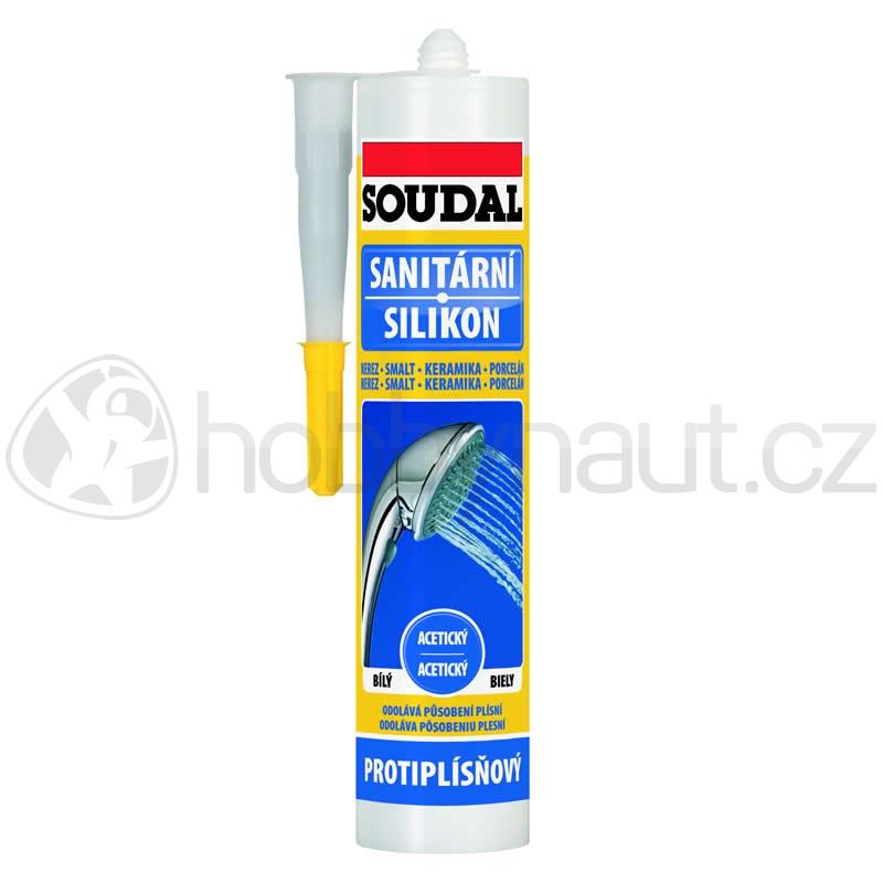 Stavební chemie - Soudal sanitární silikon bílý 300ml