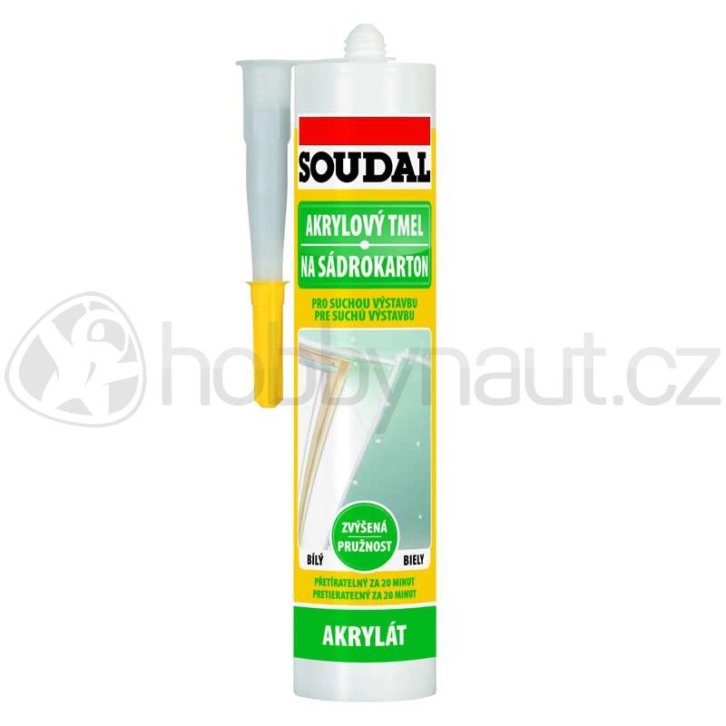 Stavební chemie - Soudal akrylový tmel na sádrokarton bílý 300ml