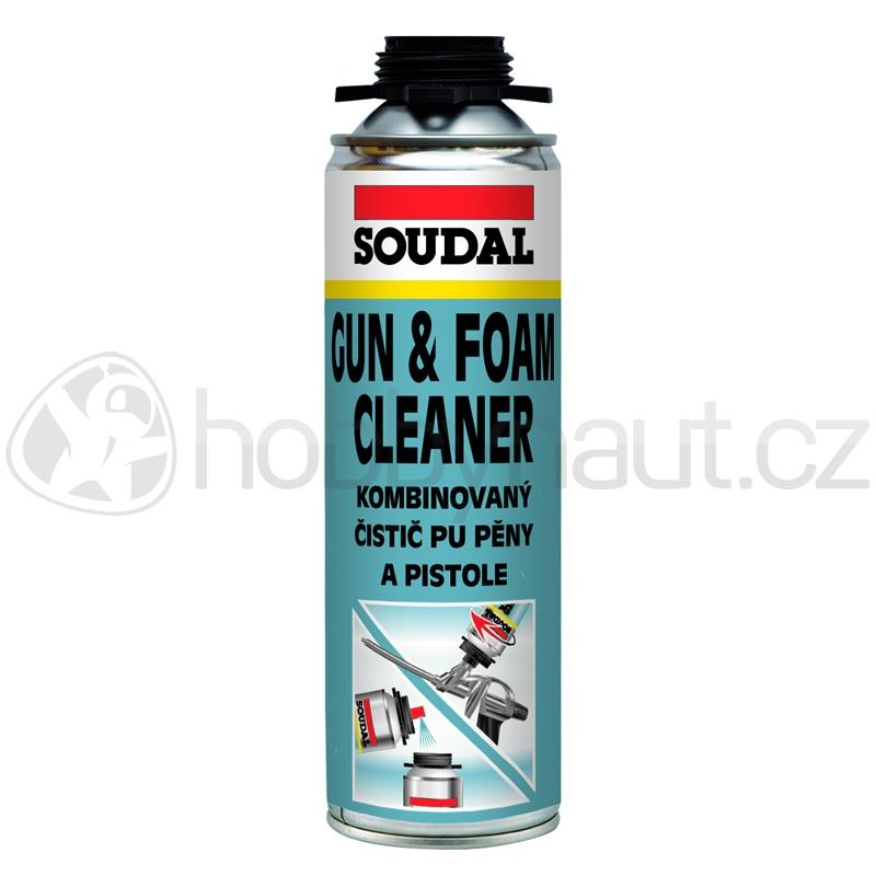 Stavební chemie - Soudal kombinovaný čistič PU pěny a pistole 500ml
