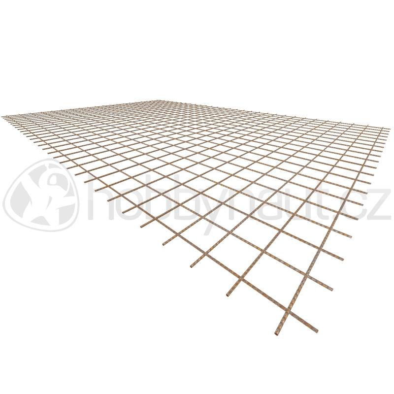 Armovací materiály - Ocelová KARI síť KH30 - 6mm/100x100mm/2x3m