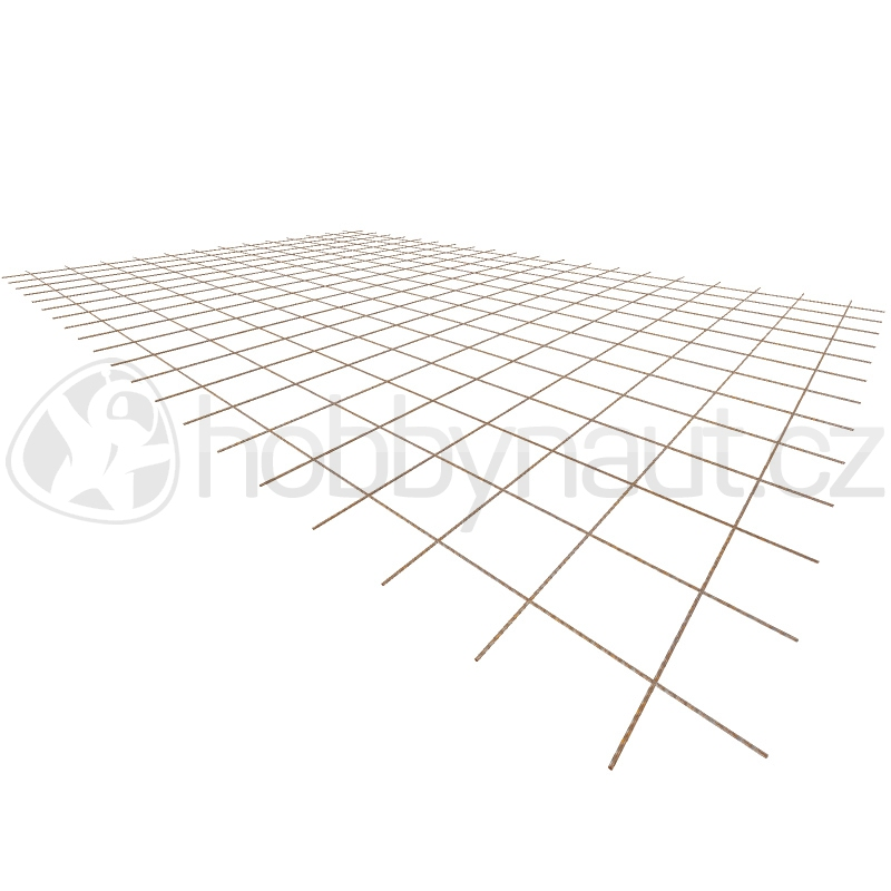 Armovací materiály - Ocelová KARI síť KA17 - 4mm/150x150mm/2x3m