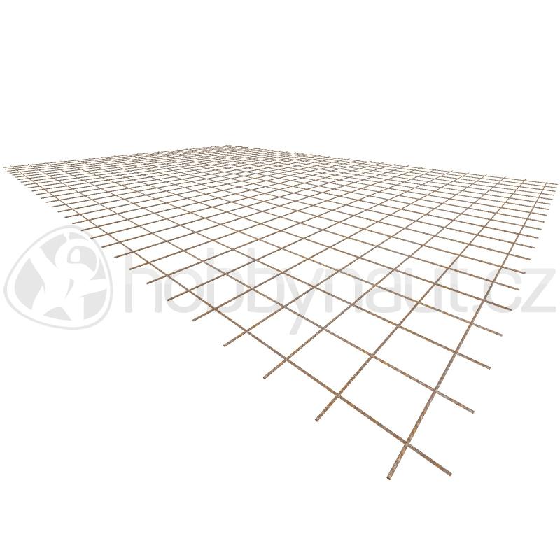 Armovací materiály - Ocelová KARI síť KA16 - 4mm/100x100mm/2x3m