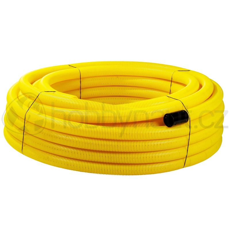Hydroizolace a odvodnění - Drenážní flexibilní PVC potrubí (50m/role)