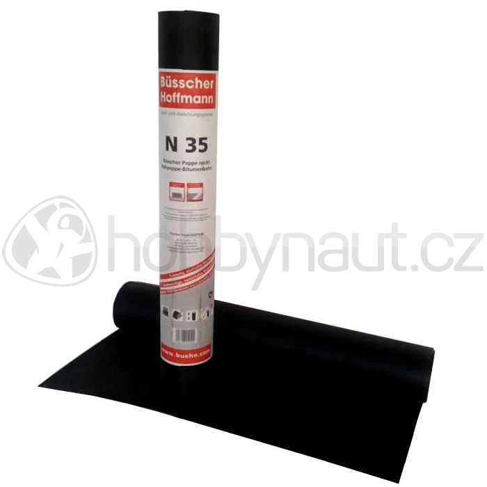 Hydroizolace a odvodnění - Asfaltový pás BH N 35 Pappe Nackt oxidovaný (20m2/role)