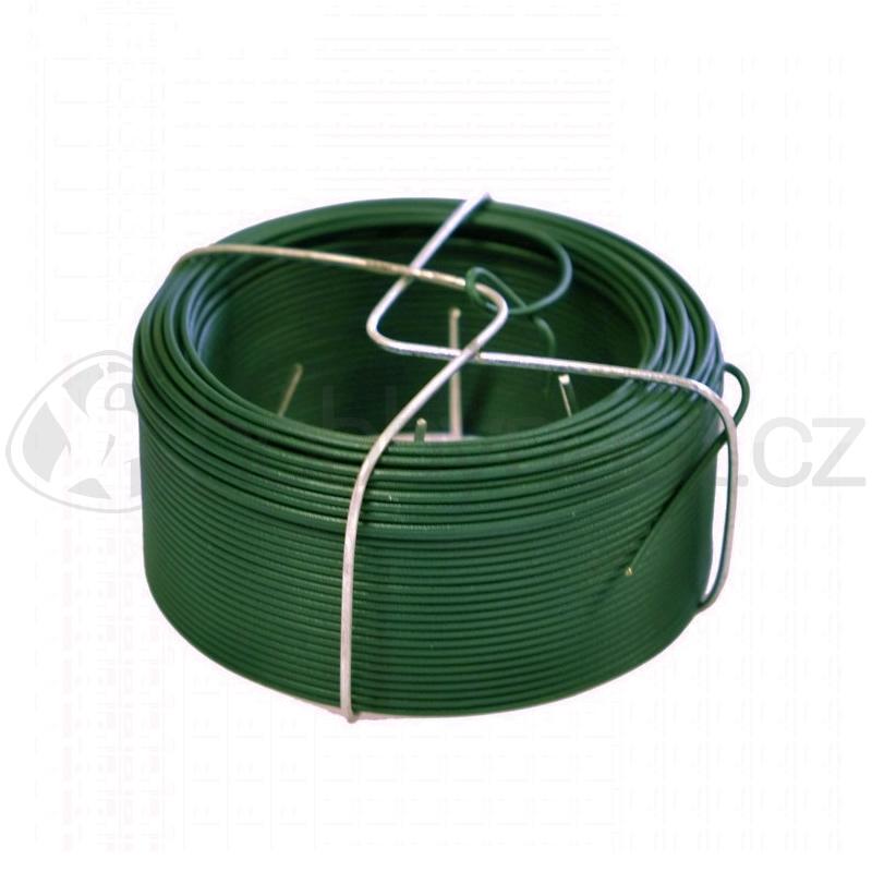 Pletivo a příslušenství - Drát vázací Zn+PVC zelený 1,4mm x 50m