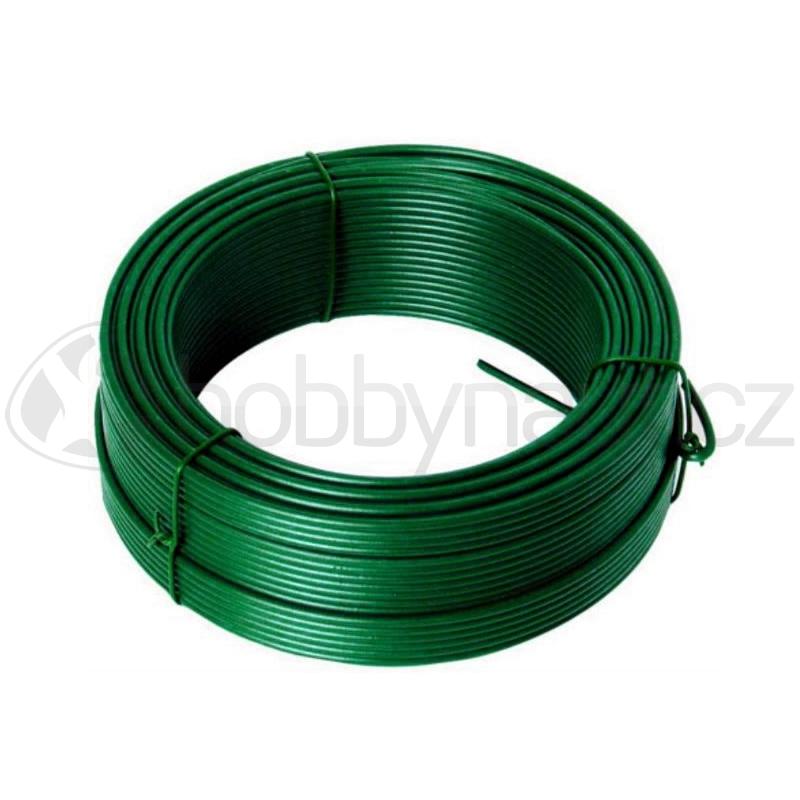 Pletivo a příslušenství - Drát napínací Zn+PVC zelený 2,6mm x 50m