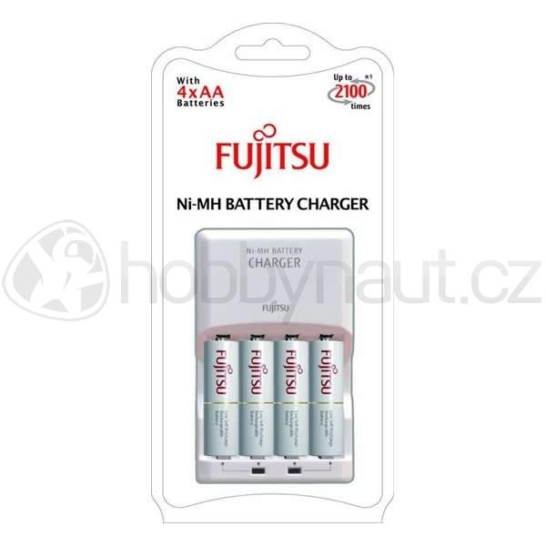 Elektro - Nabíječka baterií Fujitsu + nabíjecí baterie AA 1900mAh 4ks