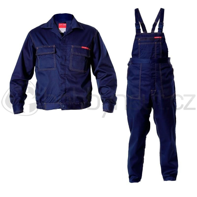 Pracovní oblečení - Montérky s laclem + blůza LahtiPro modré, velikost XXL