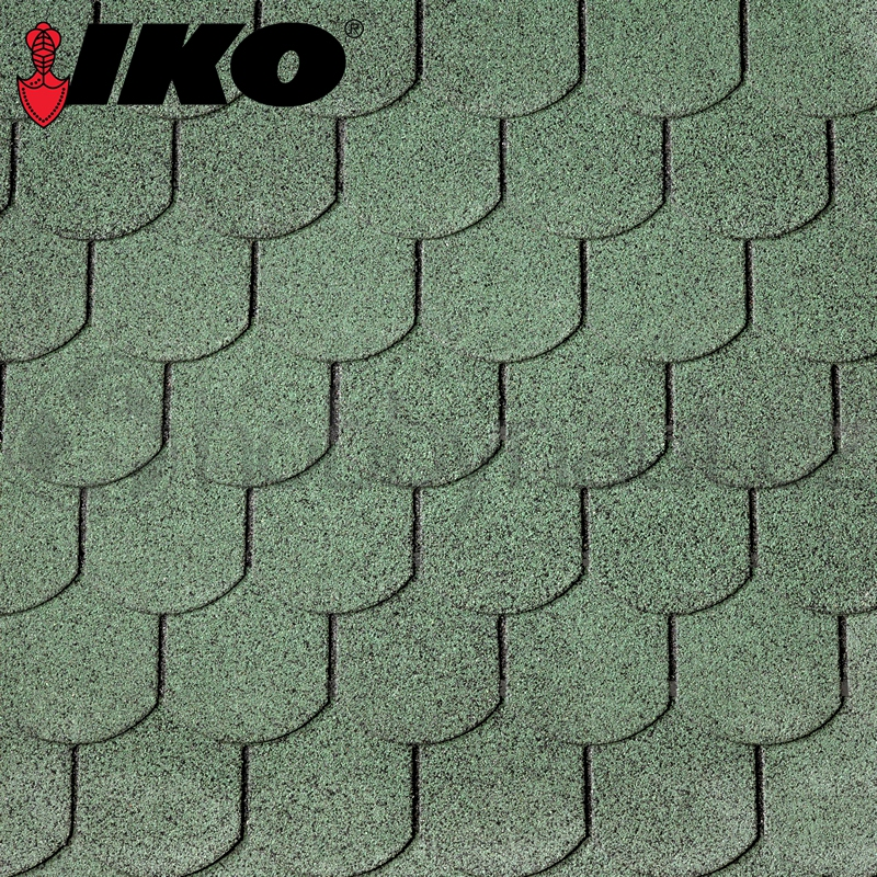 Střešní krytiny a fólie - šindel IKO Superglass-Biber, lesní zelená (3m2/bal)