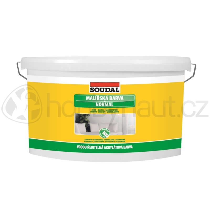 Barvy a nátěry - Soudal bílá barva malířská NORMAL 15kg
