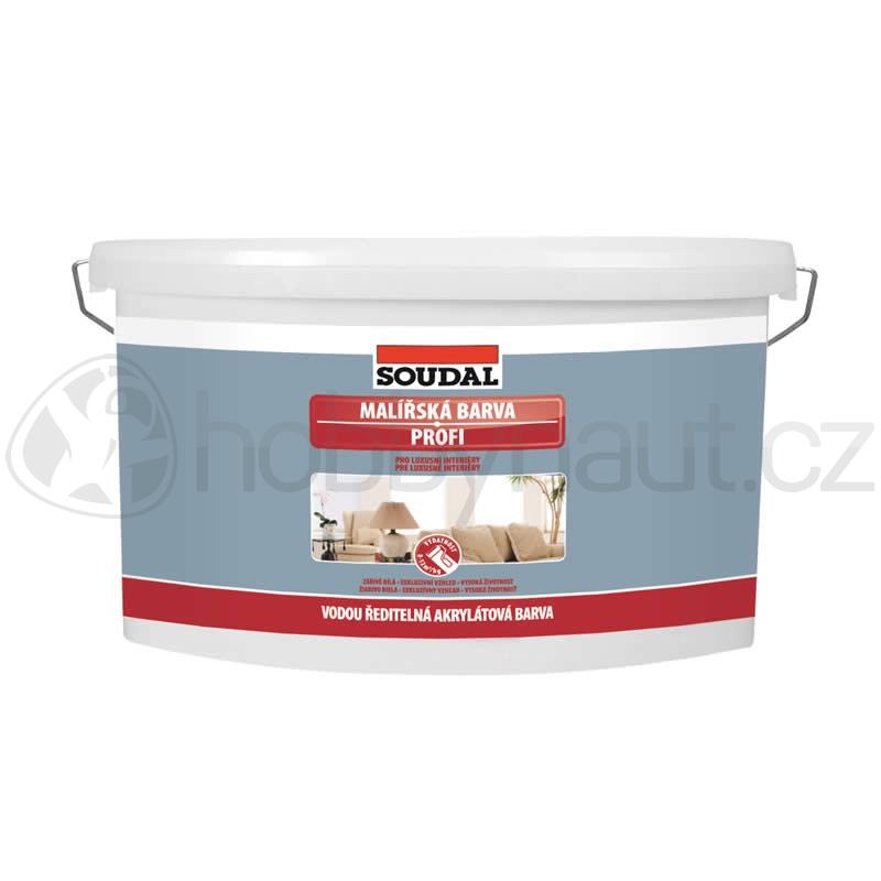 Barvy a nátěry - Soudal bílá barva malířská PROFI 15kg