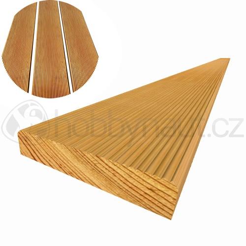 Dřevo - Terasová prkna MODŘÍN 27x140mm x 4m