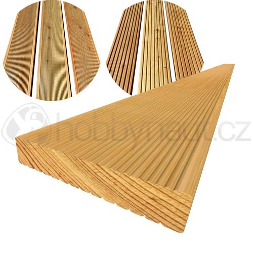 Dřevo - Terasová prkna MODŘÍN SIBIŘSKÝ 27x145mm x 4m