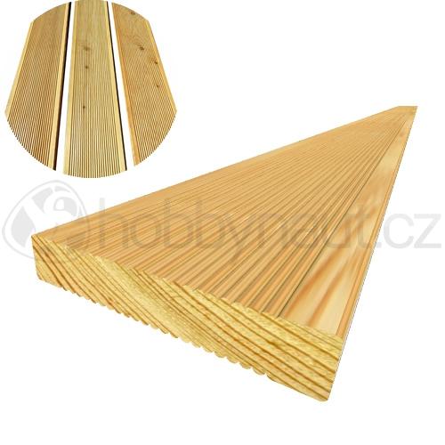 Dřevo - Terasová prkna BOROVICE 26x146mm x 4m