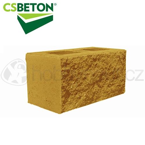 Zdicí materiály - CSBLOK jednostranně štípaný, okrový 200x400mm tl. 20cm