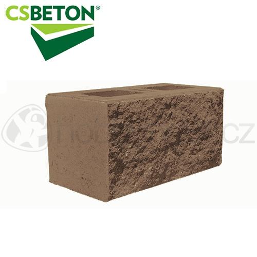 Zdicí materiály - CSBLOK jednostranně štípaný, hnědý 200x400mm tl. 20cm