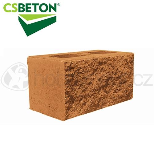 Zdicí materiály - CSBLOK jednostranně štípaný, javor 200x400mm tl. 20cm