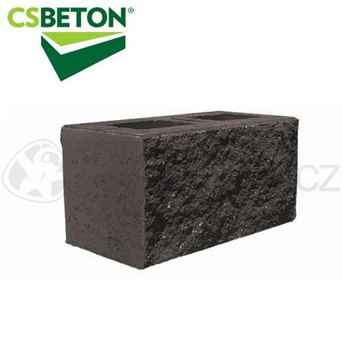 Zdicí materiály - CSBLOK jednostranně štípaný, černý 200x400mm tl. 20cm