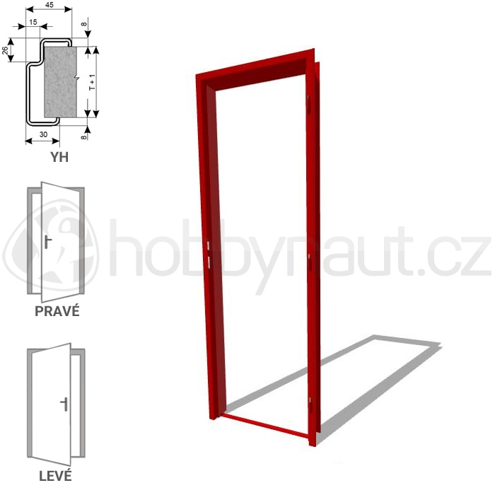 Stavební výplně - Zárubně ocelové ZAKO YH 100 / 600mm