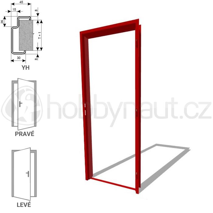 Stavební výplně - Zárubně ocelové ZAKO YH 100 / 700mm