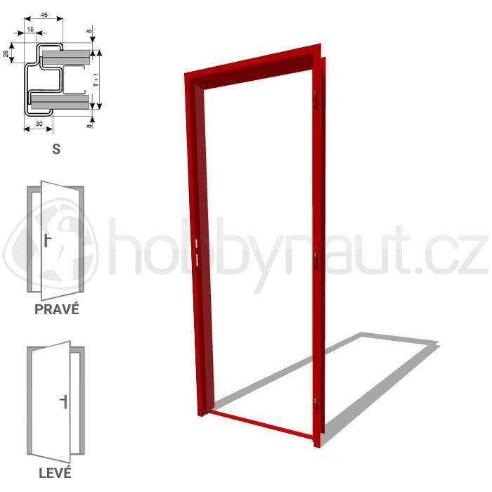 Stavební výplně - Zárubně ocelové ZAKO S 100 / 700mm