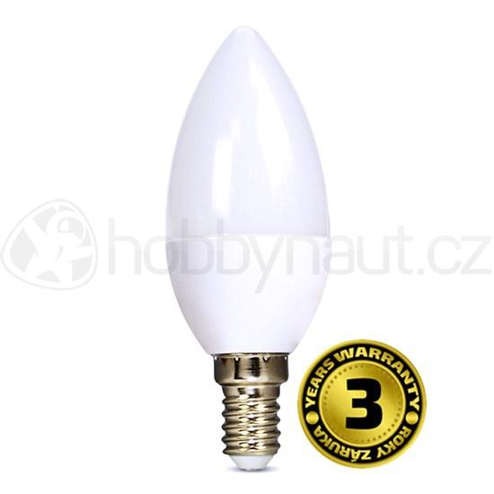 Elektro - LED žárovka svíčka, patice E14, 6W, 450lm, 4000K