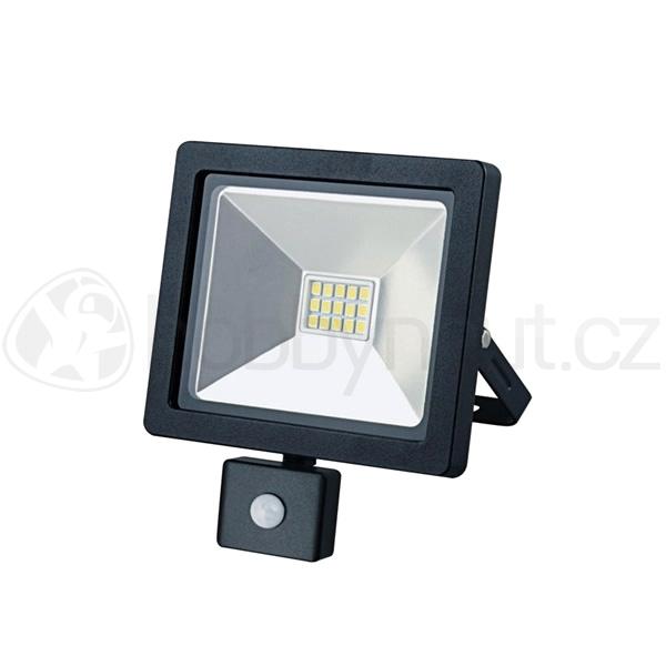 Elektro - LED reflektor venkovní SLIM 10W, 700lm, AC 230V, se senzorem