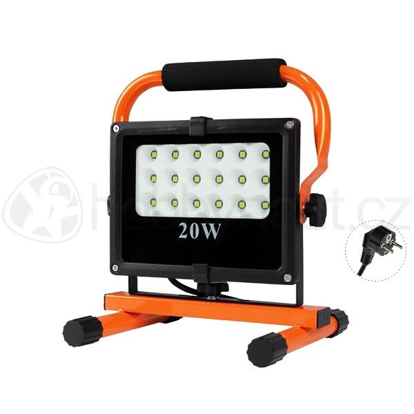 Elektro - LED reflektor venkovní 20W, 1700lm, AC 230V, stojánek