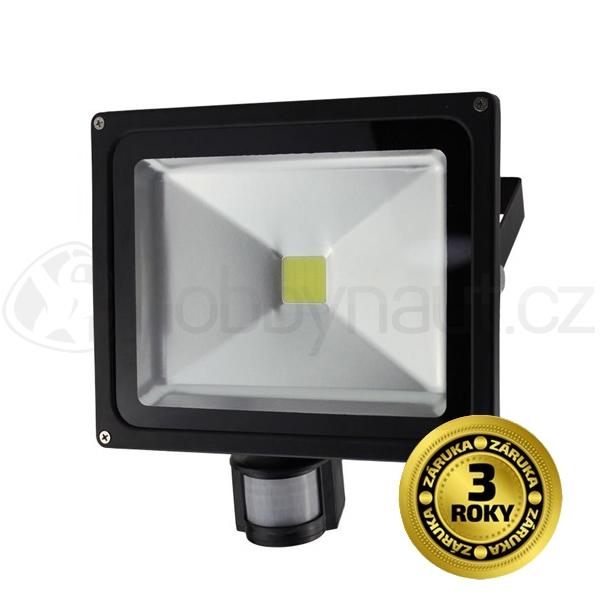 Elektro - LED reflektor venkovní 30W, 2400lm, AC 230V, se senzorem