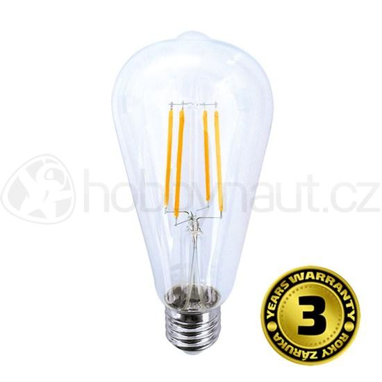Elektro - LED žárovka retro, patice E27, 8W, 810lm, 3000K