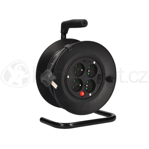 Elektro - Prodlužovací kabel na bubnu černý (3x1mm2) - délka 15m