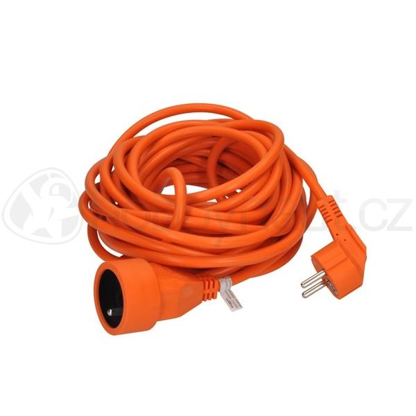 Elektro - Prodlužovací kabel oranžový (3x1mm2), 1 zásuvka