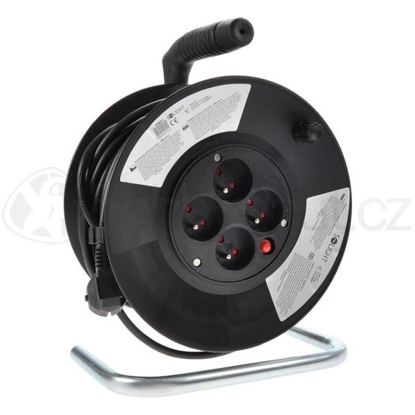 Elektro - Prodlužovací kabel na bubnu černý (3x1,5mm2)