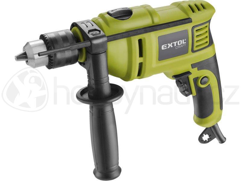 Elektrické nářadí - Vrtačka s příklepem Extol Craft  750W