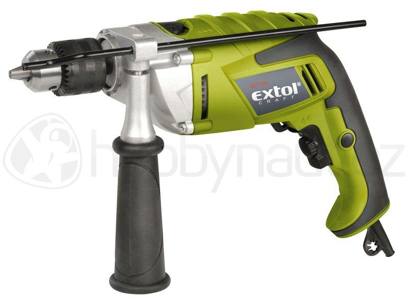 Elektrické nářadí - Vrtačka s příklepem Extol Craft 1100W